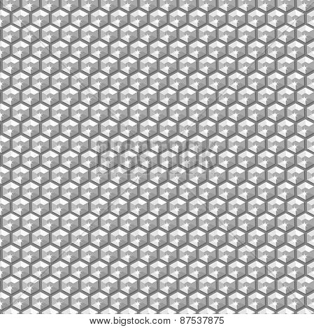 Silver Crystal Sequins In A Seamless Pattern