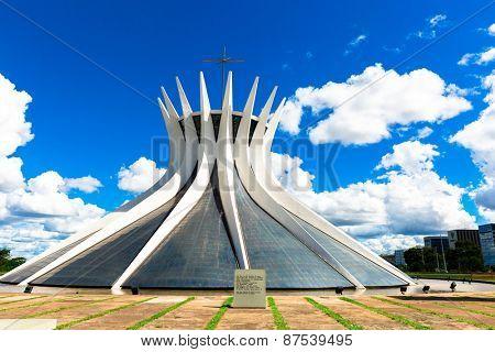 BRASILIA, BRAZIL - CIRCA MARCH 2015: Cathedral of Brasilia, Brazil