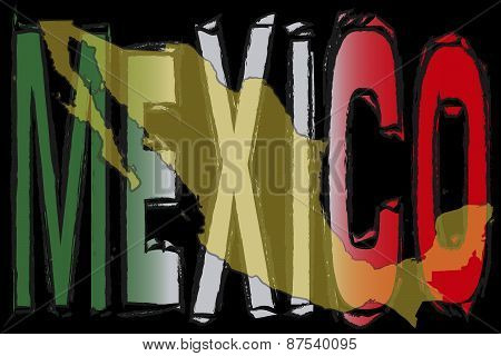 Letters of Mexico with Map