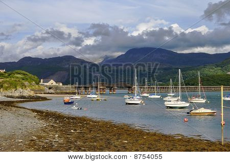 Boats In Barmouth Harbour