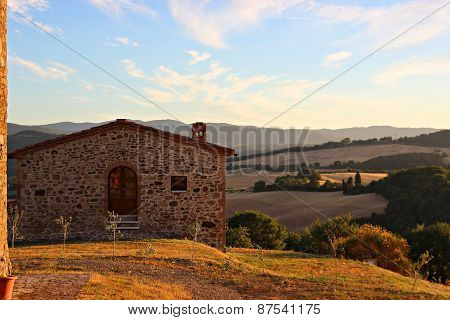 in toscana on a hill