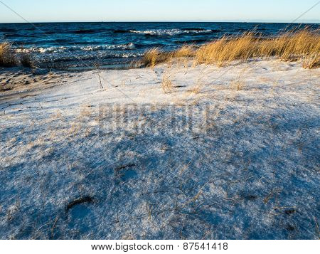 Winter Landscape In Baltic Sea Beach