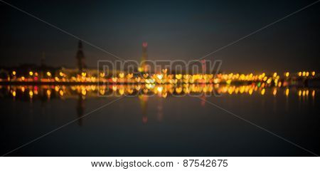 Quay Of Daugava River In Riga,
