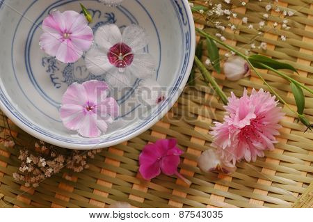 Bowl with flower water