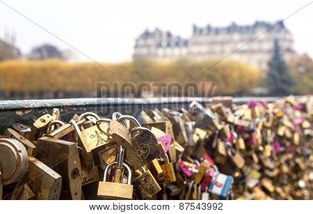 Paris, Love Locks At Pont Des Arts