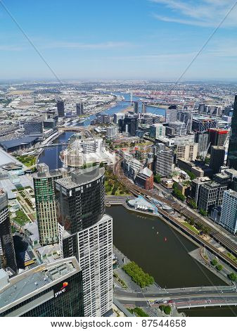 Commercial centre at the Yarra river