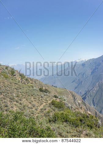 Mountains Of Colca Valley In Arequipa Peru