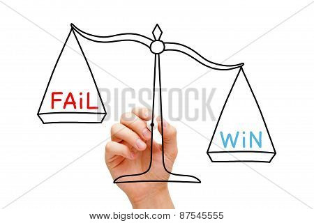 Win Fail Scale Concept