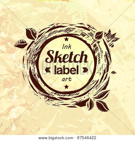 Natural Product Sketched Stamp
