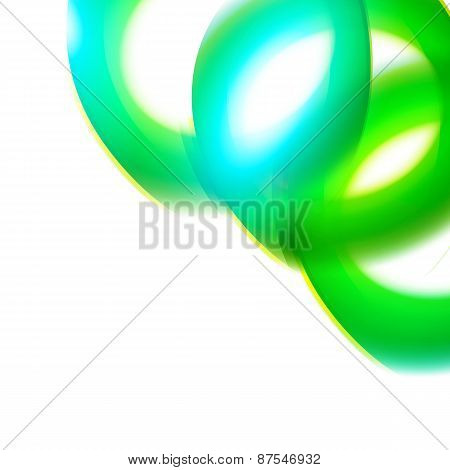 Modern Fresh Colors Curves Decorative Corner
