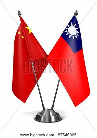 China and Republic China - Miniature Flags.
