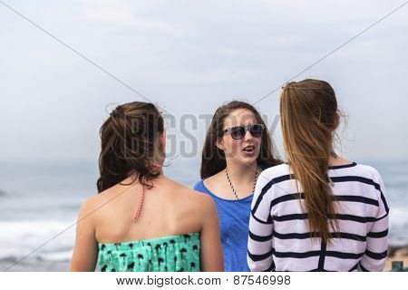 Girls Talking Holidays
