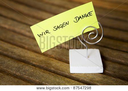 Handwritten German Words