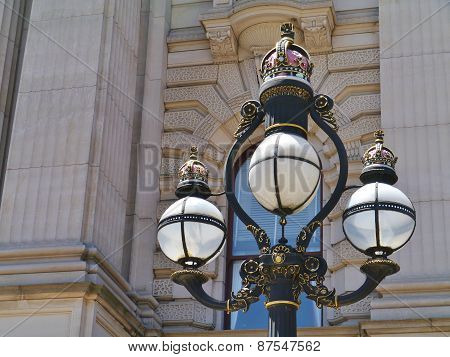 Historical  lamp post in Melbourne
