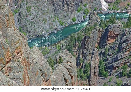 Green Waters Of The Gunnison River