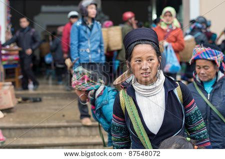 Hmong woman in Sapa, Vietnam