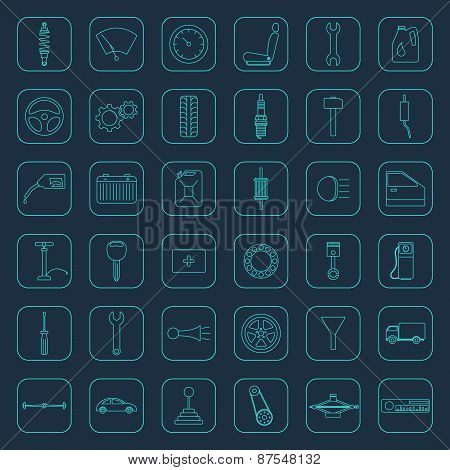 Vector Car Parts Icons