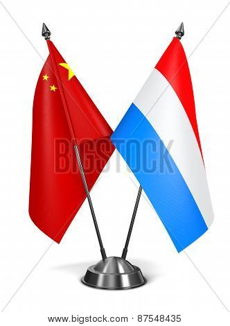 China and Luxembourg - Miniature Flags.