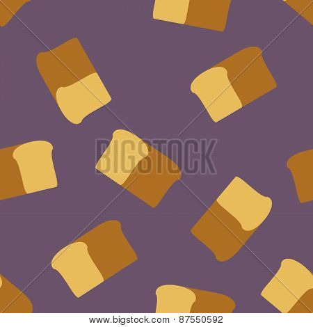 bread seamless pattern. Food vector background