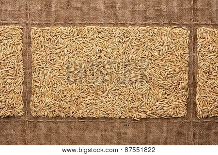 Oats On Sackcloth, With Place For Your Text
