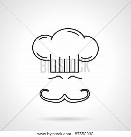 Chef black line vector icon