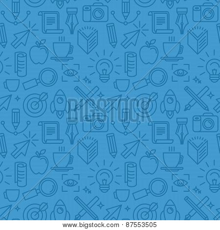 Vector Seamless Pattern With Icons