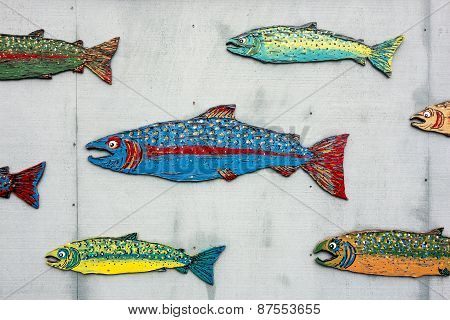 School Of Painted Salmon