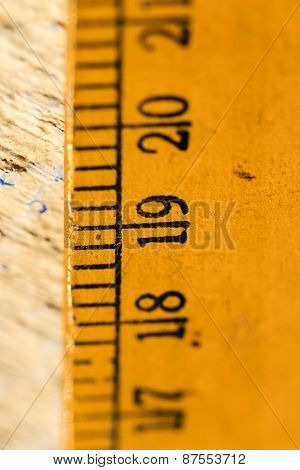 Measure concept ~ focus on the label of a scale reading ~ depth of field