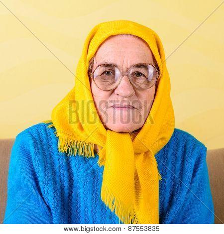 Senior Woman Sitting