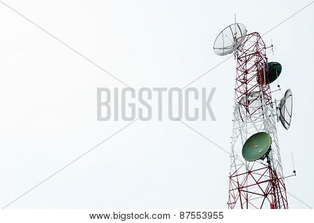 Communication Satellite Dishes Tower