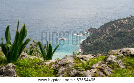 Landscape Of Turkish Coast Of Mediterranean Sea.