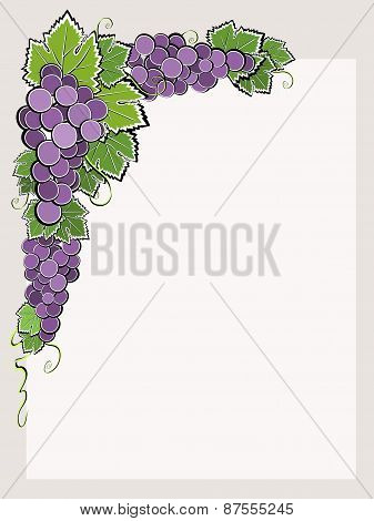 Corner Border With Dark Grape