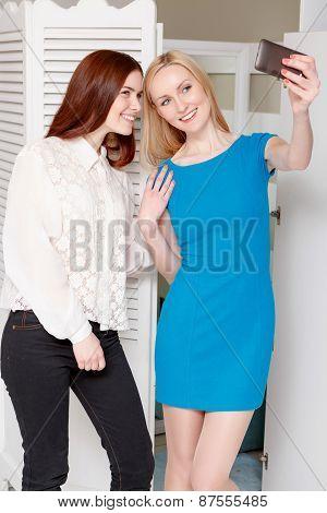 Customer tries new dress