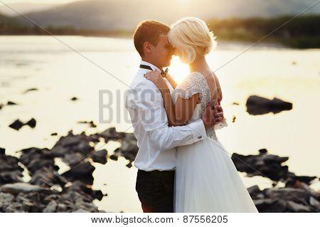 Wedding Couple near the river