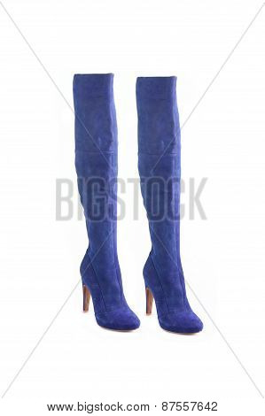 Fashion Woman Top Boots Isolated On White