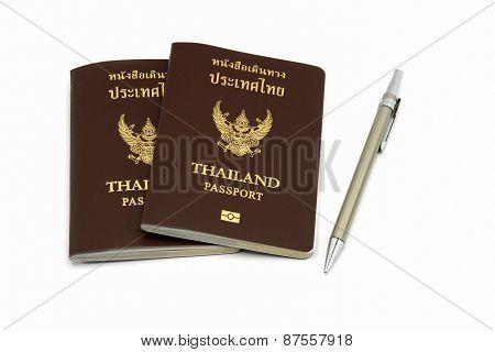 Passport And Pen