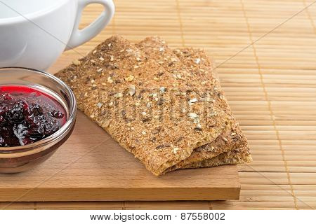 Crispbread And Jam.