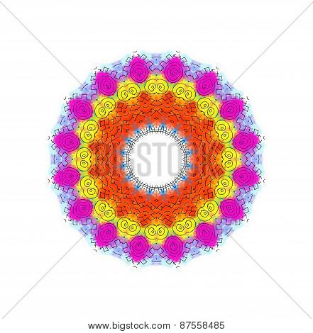 Bright Color Radial Pattern