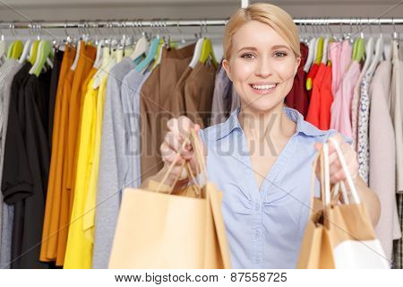 Shop assistant in a store