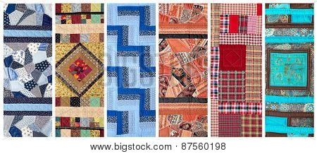 Different Colored quilts