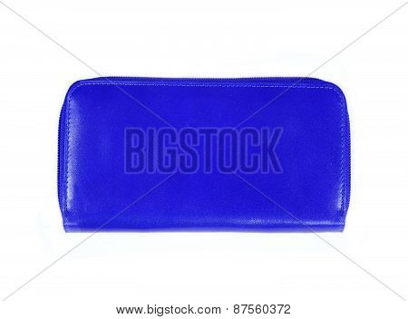 Beautiful Blue Makeup Bag Isolated On White