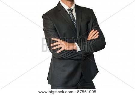 Man In Suit With Folded Hands