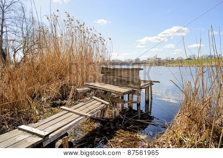 Wooden Pontoon