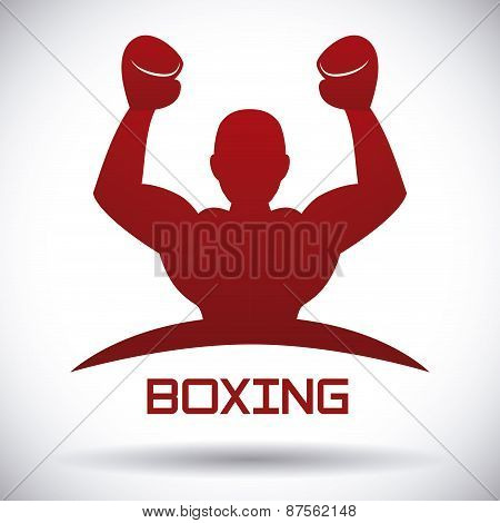 boxing label design vector illustration eps10 graphic