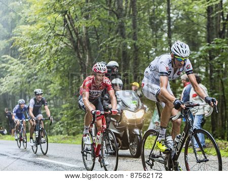 Cyclists Climbing Col Du Platzerwasel - Tour De France 2014