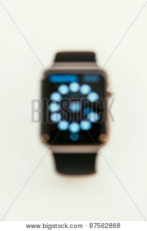 Apple Watch Starts Selling Worldwide - First Smartwatch defocused view