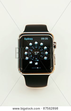 Apple Watch with weather app