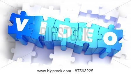 Video - White Word on Blue Puzzles.
