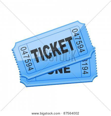vector illustration of blue ticket