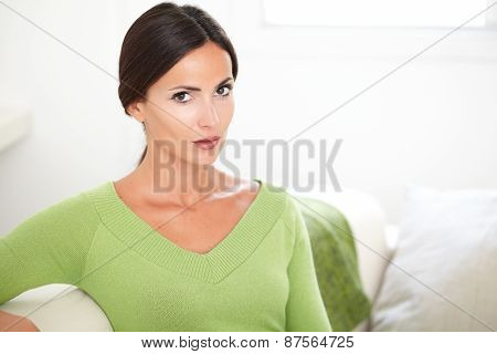 Beautiful Woman With Confidence Looking At Camera